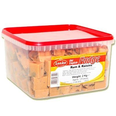Rum And Raisin Fudge - 2 Kg Pack