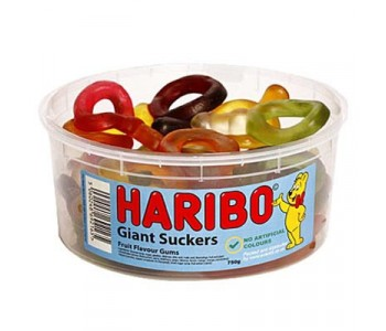 Haribo Giant Suckers - 1.5Ltr Tub - 750g