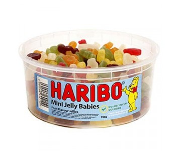 Haribo Mini Jelly Babies - 1.5Ltr Tub - 750g