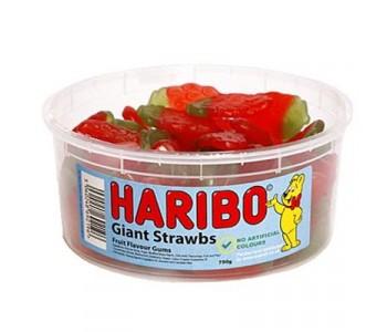 Haribo Giant Strawbs - 1.5Ltr Tub - 750g