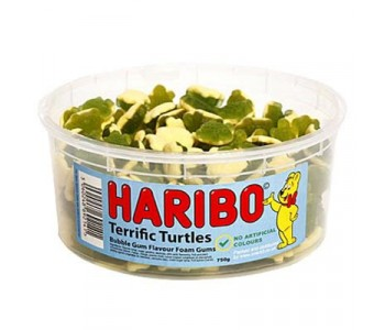 Haribo Terrific Turtles - 1.5Ltr Tub - 750g