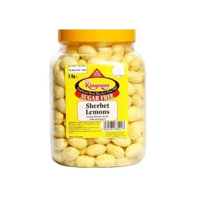 Sugar Free Sherbet Lemons - 2Kg Jar