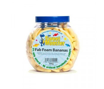Sweet Monster Fab Foam Bananas - 300g Jar