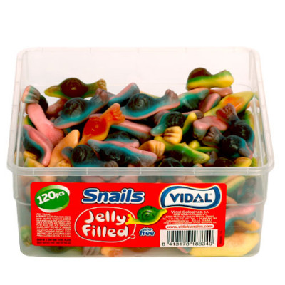 Jelly Filled Snails - 120 Pack