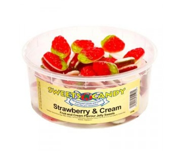Strawberry and Cream Flavour Jellies - 1.5 Ltr Tub (750g)