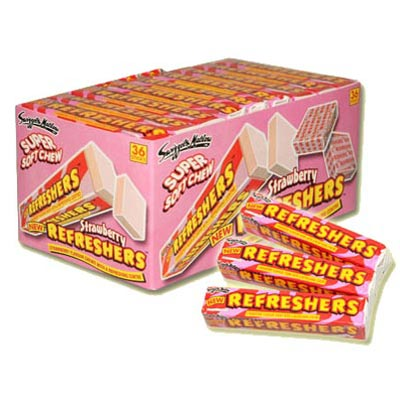 Refreshers Strawberry Flavour Chews - 36 Pack