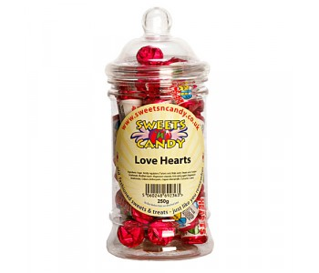 Swizzels Love Hearts - 250g Victorian Jar