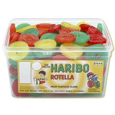 Haribo Rotella Fruit Flavoured Gums - 120 Pack