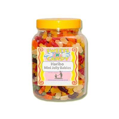 A Jar of Haribo Mini Jelly Babies - 1.8Kg Jar