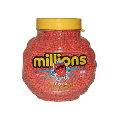 Millions - Cola Flavour Chewy Sweets - 2.27 Kg Jar