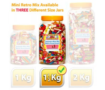 A Jar of Assorted Swizzels Mini Mix Retro Sweets - 1.5Kg Jar