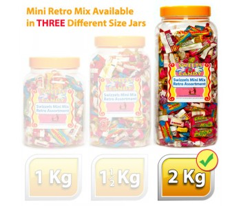 A Jar of Assorted Swizzels Mini Mix Retro Sweets - 2Kg Jar