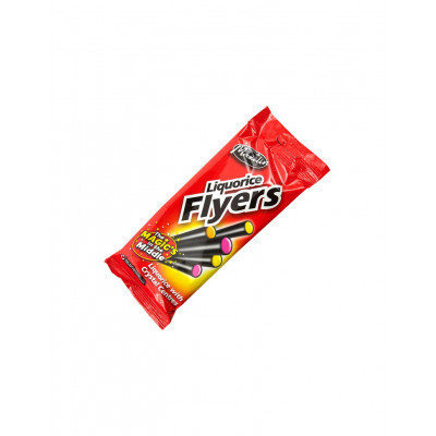 Liquorice Flyers With Crystal Centre 12 x 75gm Pack