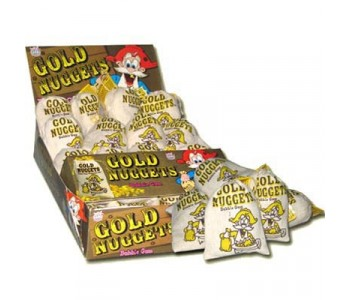 Gold Nuggets Bubble Gum - 24 Pack