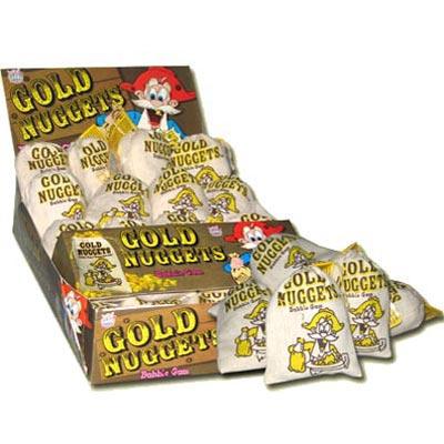 Gold Nuggets Bubble Gum - 24 Pack