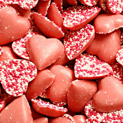 Pink Hearts Strawberry Flavour Candy Pieces - 3kg Bulk Pack