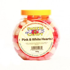 Barratt Pink and White Hearts - 550g Jar