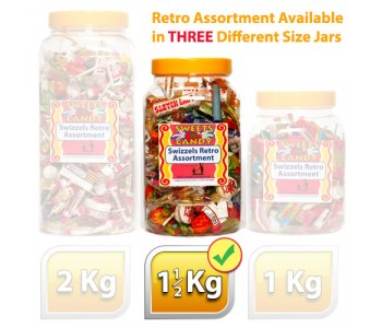 Swizzels Retro Sweets Assortment - 1.5Kg Jar