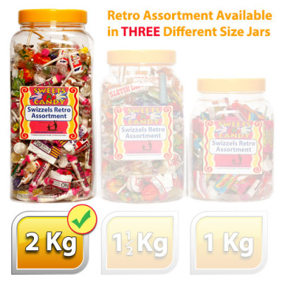 Swizzels Retro Sweets Assortment - 2Kg Jar
