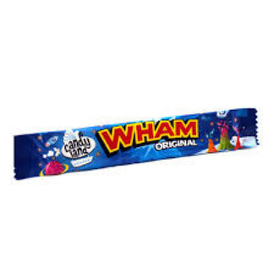 Candyland (Wham)Original Raspberry Flavour Chew Bar - 50 Pack